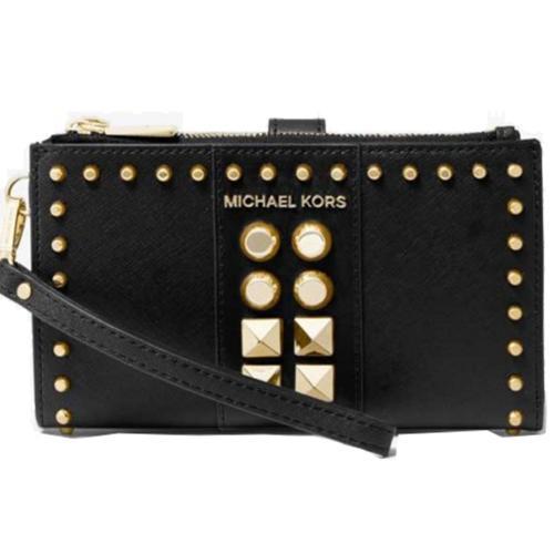 Adele Studded Saffiano Leather...