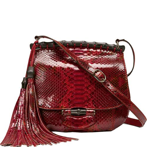 Nouveau Red Python Shoulder Bag