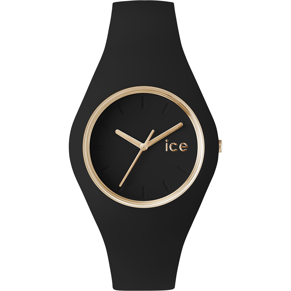 Ceas Unisex ICE Glam black rose-gold, small