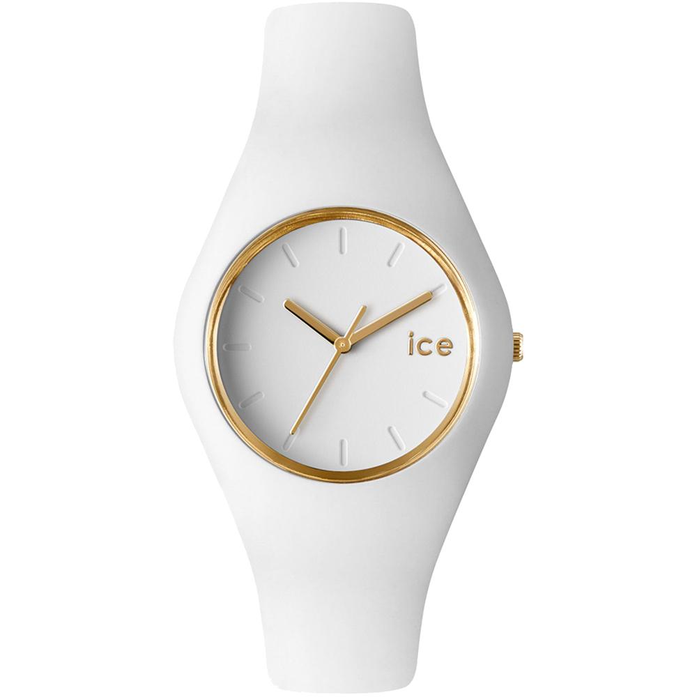 Ceas Unisex ICE Glam white, medium