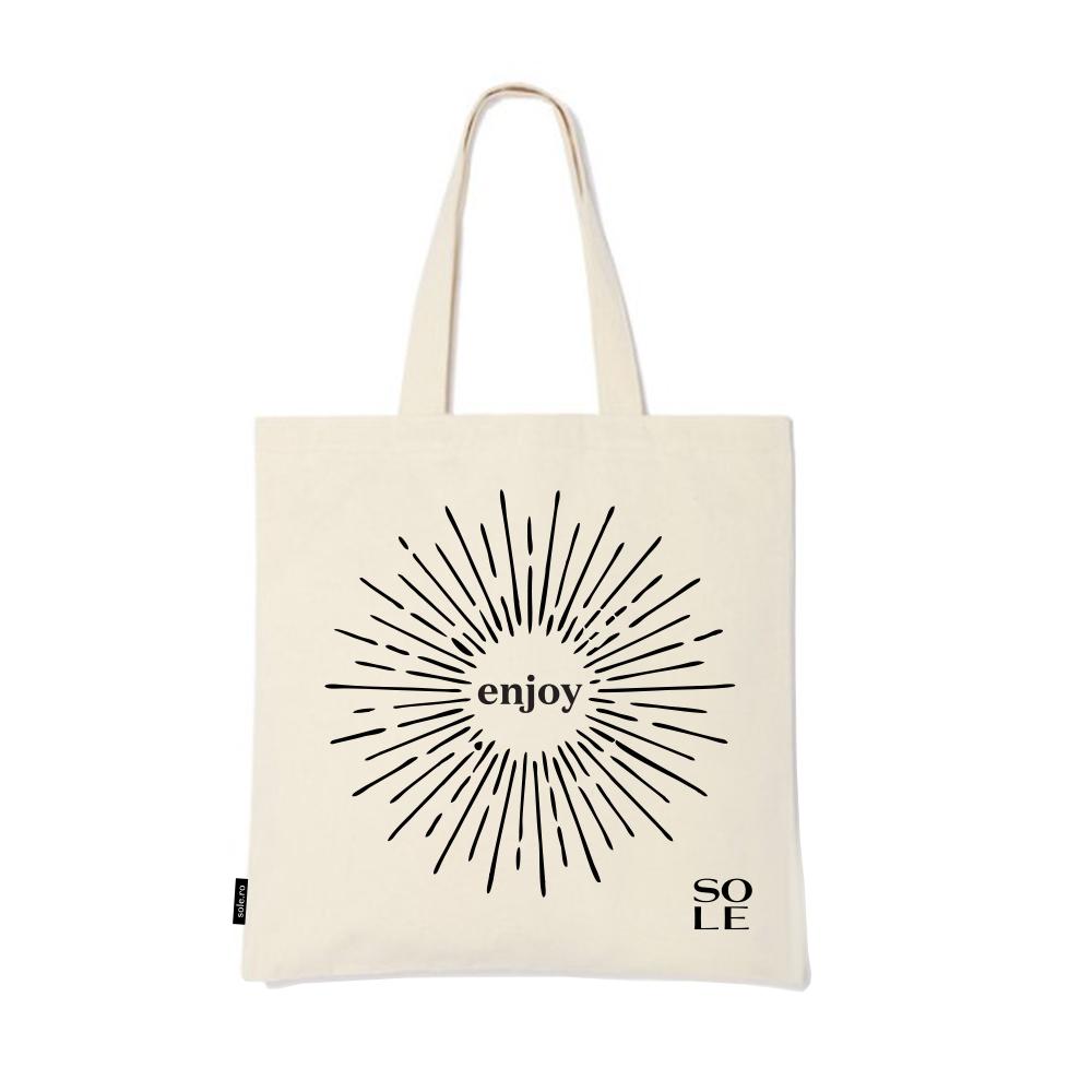Geanta Shopping Tote Bag Din Bumbac Cu Imprimeu