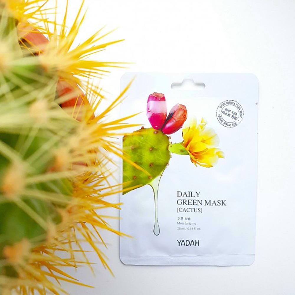 Daily Green Masca de fata Cactus SET 10 buc 25 ml