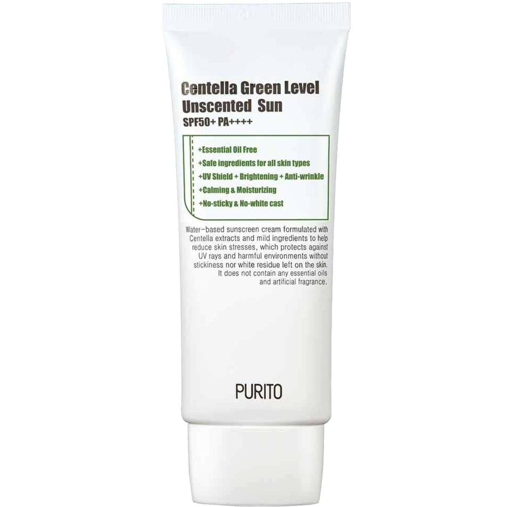 Green Level Unscented Sun Crema de fata cu protectie solara SPF 50 fara miros 60 ml