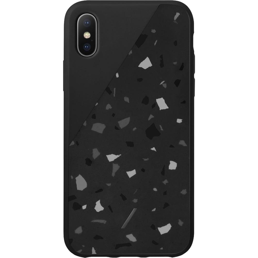 Husa Capac spate Clic Terrazzo Negru Apple Iphone X/Xs