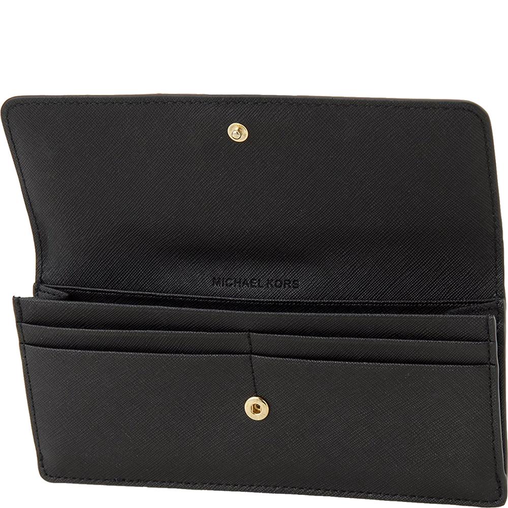 Jet Set Travel Slim Saffiano Leather Wallet