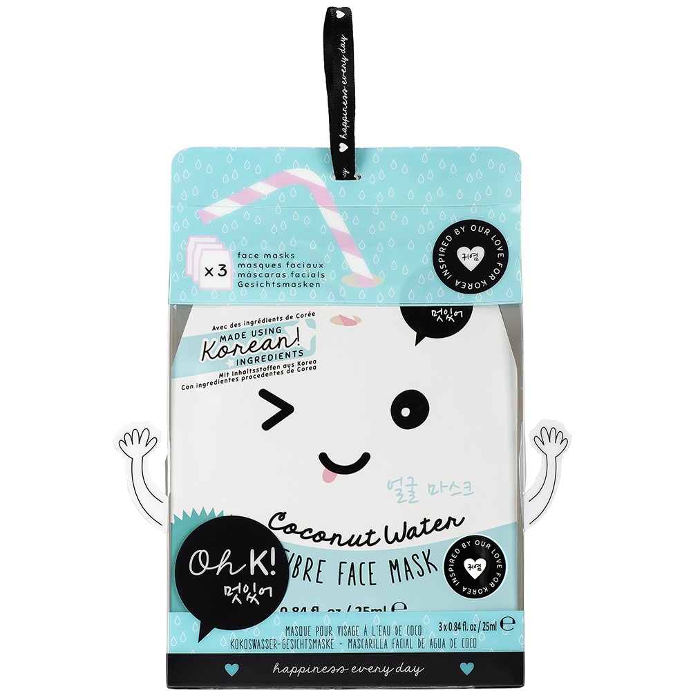 Panda Fibre Coconut Water Masca de fata 3 bucati Unisex