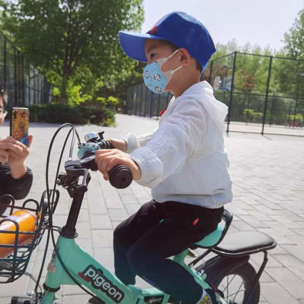 Masca faciala protectie FFP1 pentru copii, marimea M, cu 3 straturi de protectie, culoare albastru, set 50 bucati