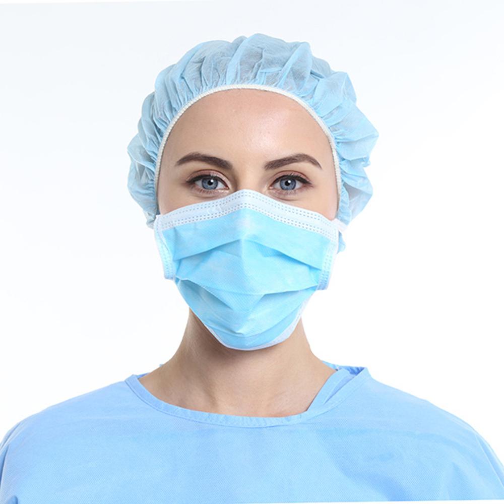 Masca faciala medicala chirurgicala pentru adulti, marimea L, cu 3 straturi de protectie, set 50 buc, EN14683 tip I,  eficienta ≥ 95%