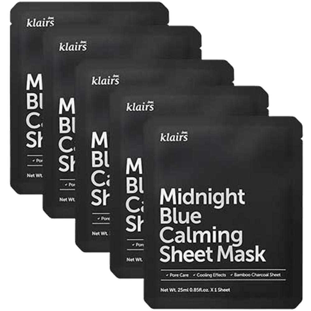 Midnight Blue Masca de fata cu efect calmant Set 5 bucati