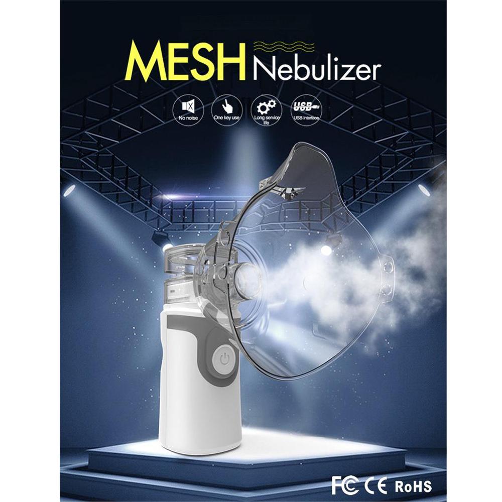 Aparat Aerosoli Portabil, Nebulizator, Tehnologie Mesh, Masca Adulti Si Copii Incluse