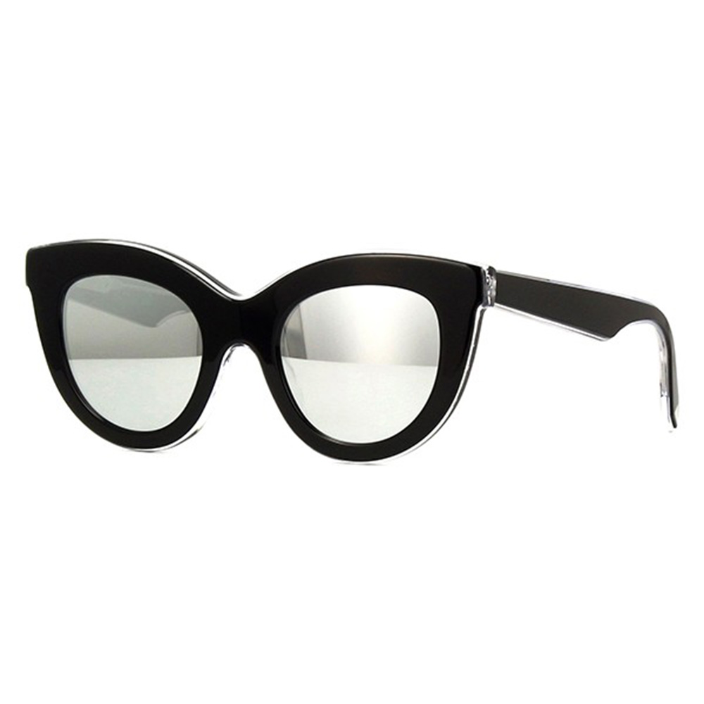 Ochelari de soare Layered Cat Black on Crystal Negru Femei