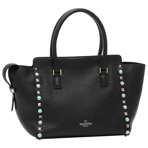 Small Rockstud Double Handle Bag