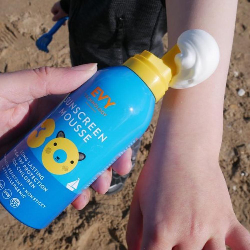 Sunscreen Mousse Crema de fata si corp spuma cu SPF 30 Copii 150 ml