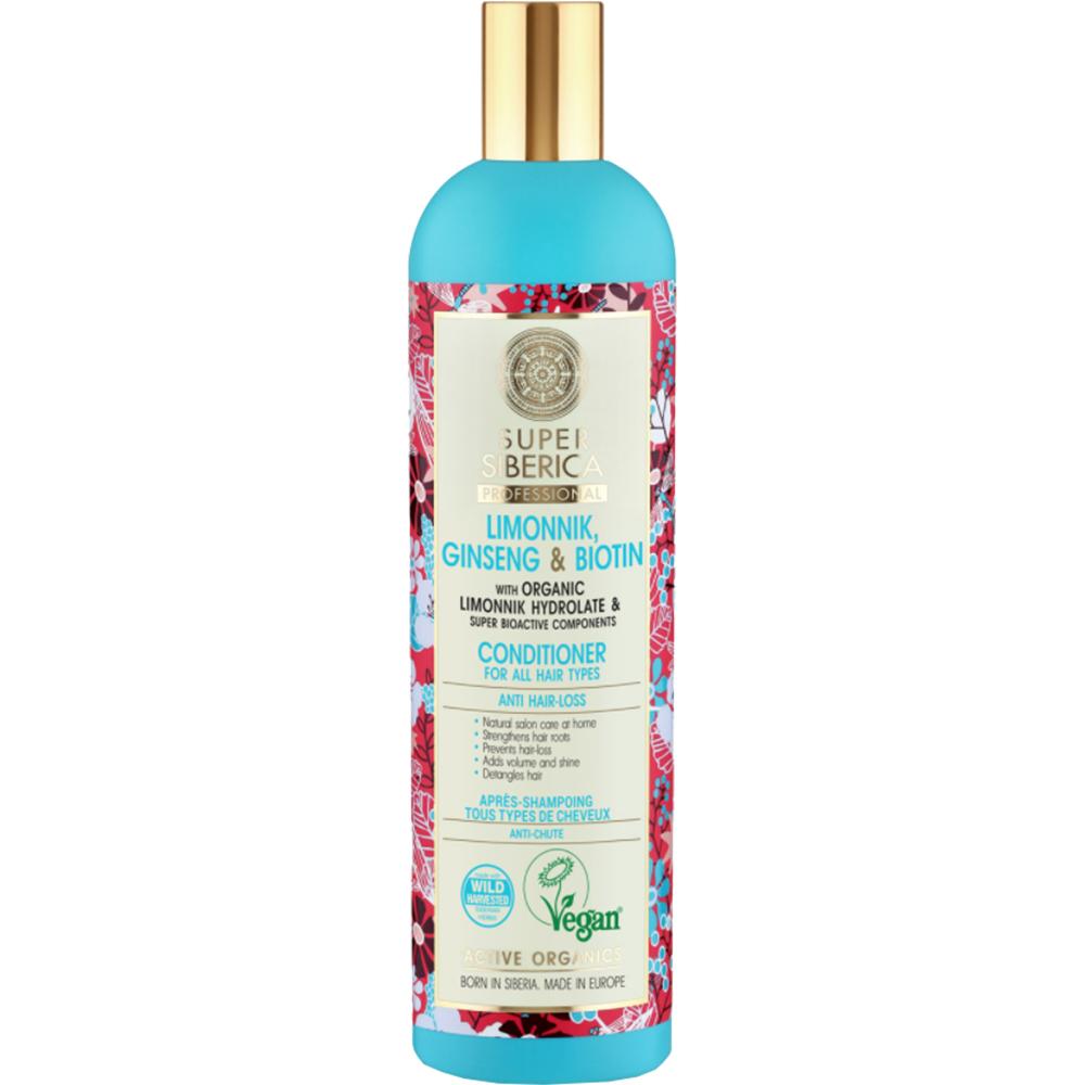 Super Siberica Professional Limonnik, ginseng & biotin Balsam pentru toate tipurile de par 400 ml