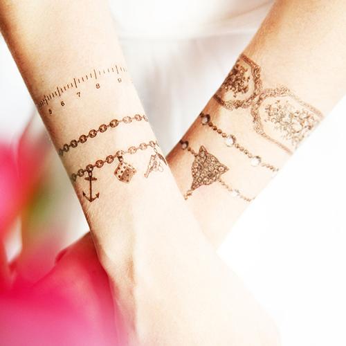 Tatuaj temporar Floral Baroque bratara, rezistent la apa Femei