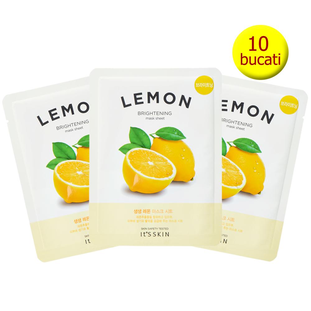 The Fresh Masca de fata nutritiva cu extract de lamaie Set 10 Buc 18 gr