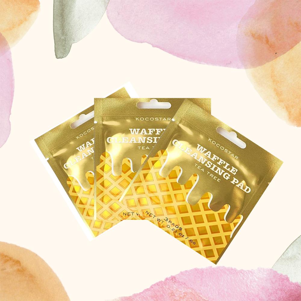 Waffle Dischete demachiante cu extract de Arbore de Ceai Set 3 bucati