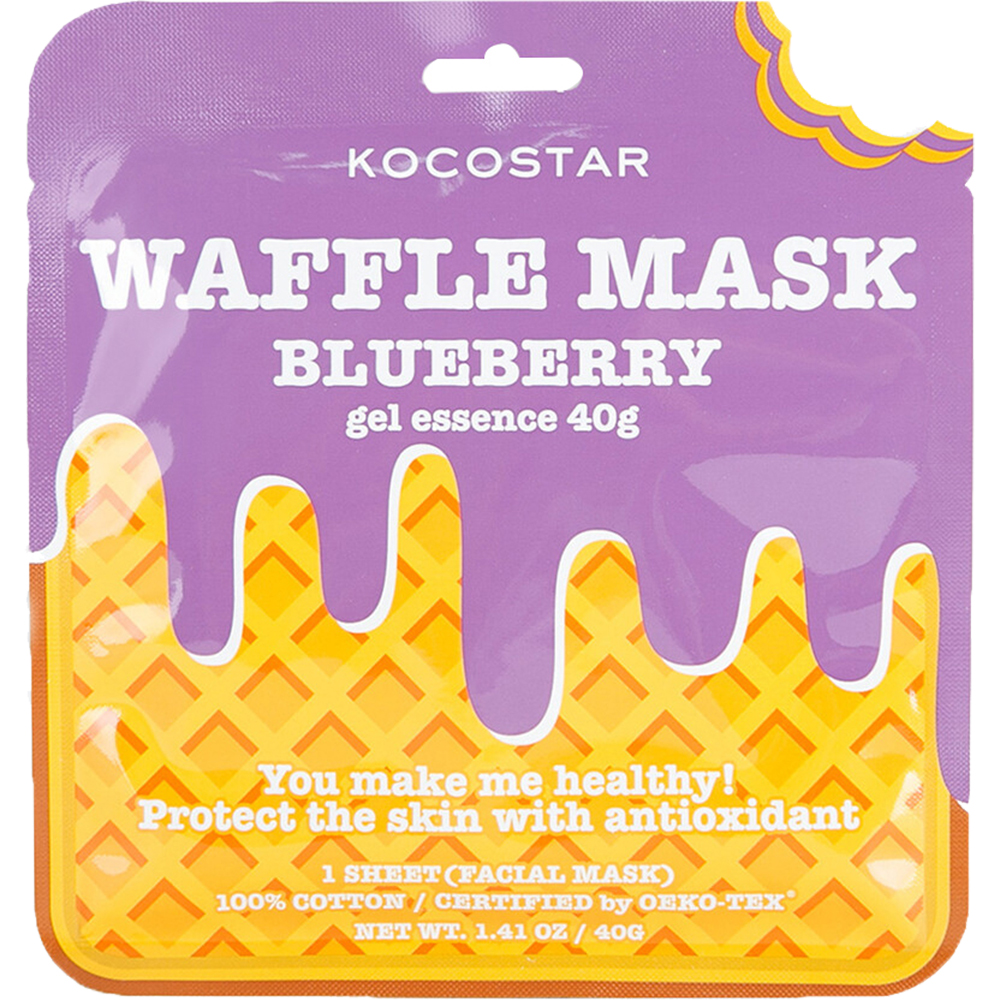 Waffle Mask Masca de fata Blueberry esenta gel cu extract de coacaze, antioxidanta 40 gr