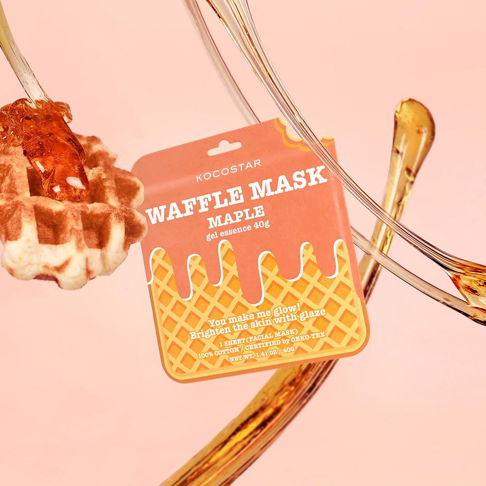 Waffle Mask Masca de fata Maple esenta gel cu extract de artar, iluminatoare 40 gr