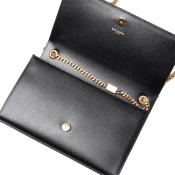 Classic Medium Monogram Satchel Black