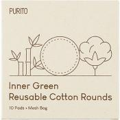 Inner Green Dischete demachiante textile reutilizabire 10 buc si saculet de depozitare
