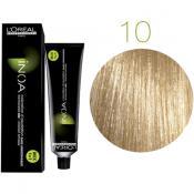 Inoa Vopsea de par permanenta fara amoniac 10 Lightest Blonde
