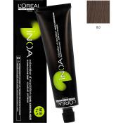 Inoa Vopsea de par permanenta fara amoniac 8.0 Light Blonde Ultra Deep