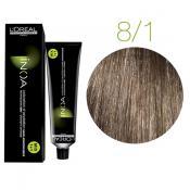 Inoa Vopsea de par permanenta fara amoniac 8.1 Light Blonde Ash
