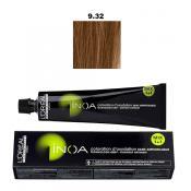 Inoa Vopsea de par permanenta fara amoniac 9.32 Very Light Golden Iridescent Blonde