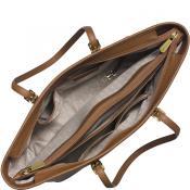 Jet Set Travel Saffiano Leather Top Zip Tote
