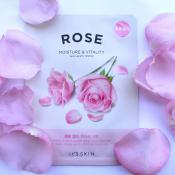 The Fresh Masca de fata nutritiva cu extract de trandafir Set 10 Buc 18 gr